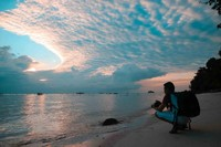 Magical sunset di Pulau Belitung