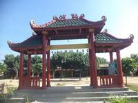 Salah satu bangunan berarsitektur Negeri Tiongkok