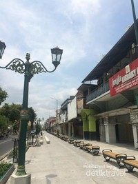 Jalanan kota yang bersih dari PKL