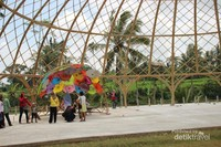 Amfiteater yang ada di taman gandrung terakota menjadi lokasi Jazz Gunung Ijen yang digelar tiap tahun.