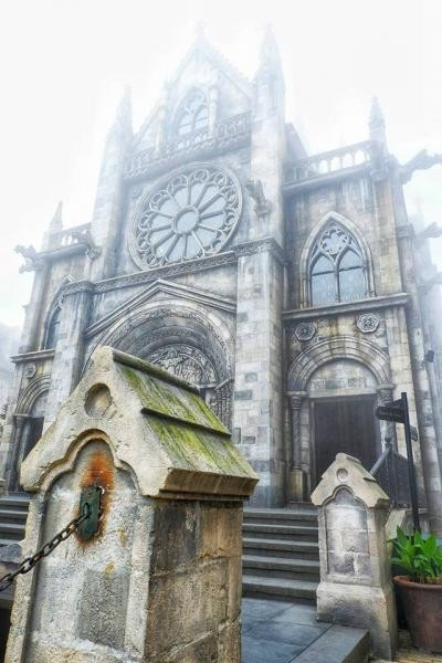 Salah satu gereja yang ada di Ba Na hills