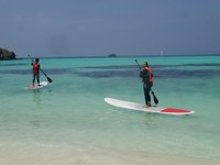 Mencoba paddle board untuk pertama kalinya