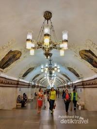 Megahnya stasiun kereta di Moskow