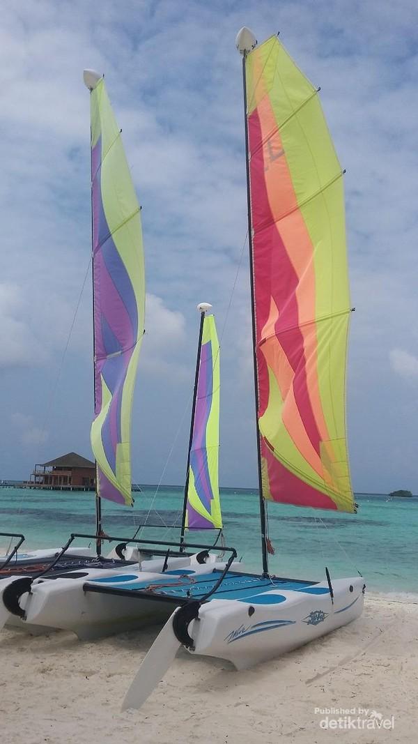 Perahu layar di Maldives
