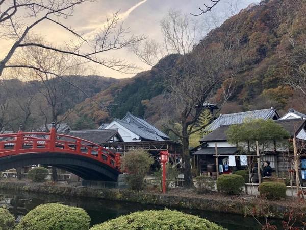 Salah satu pemandangan di sudut Edo Wonderland