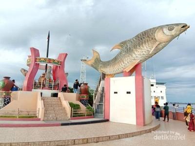 Tugu Ikan Jelawat, Ikon Baru Kota Sampit