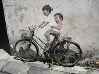 Mural Penang Street Art di Beach Street