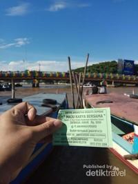Tiket naik perahu Sungai Martapura