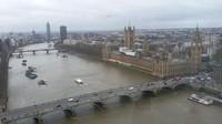 Pemandangan kota London dari atas London Eye