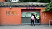 Loket tiket Wuhou Temple, dengan tiket seharga 60 yuan, buka dari jam 8 pagi hingga 5 sore