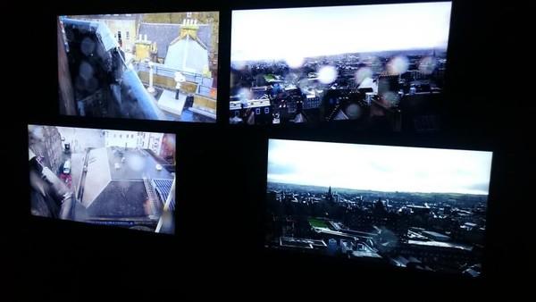 Gambar real time Edinburgh dan aktivitasnya dari berbagai sudut