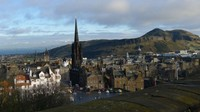 Arthurs Seat dilihat dari Edinburgh Castle