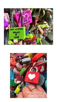 Love Lock atau yang biasa kita sebut Gembok Cinta yang terdapat di Namsan Seoul Tower
