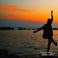 Sunset di Pulau Bulat, Kepulauan Seribu