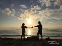 Sunset yang cantik di Pulau Lae-Lae