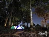 Pos 3 adalah salah satu tempat terbaik untuk bermalam sebelum menggapai puncak Tambora