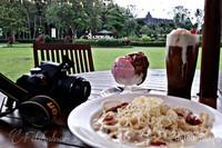 View Borobudur dari resto manohara