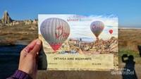 Traveler akan mendapat sertifikat setelah naik balon udara