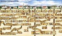 Perkiraan denah Derinkuyu Underground City
