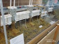 Miniatur Konstruksi Deltawerken yang ada di Museum Watersnood