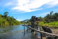 Aliran sungai Merangin yang berasal dari danau Kerinci