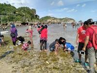 Untuk anak-anak bisa banget main air sambil cari ummang-ummang diantara bebatuan karang