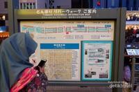 Ada peta informasi juga untuk membantu kamu menemukan destinasi populer.