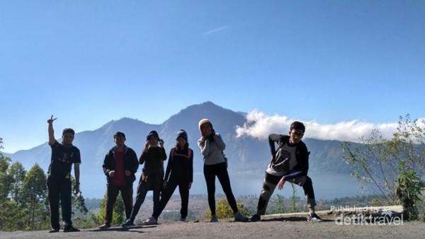 Pemandangan saat turun dari Gunung Batur
