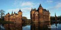 Kastil de Haar saat musim gugur