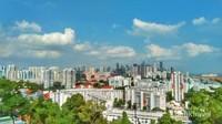 Pemandangan Singapura terlihat dari atas