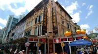 Salah satu spot foto di daerah pagoda street