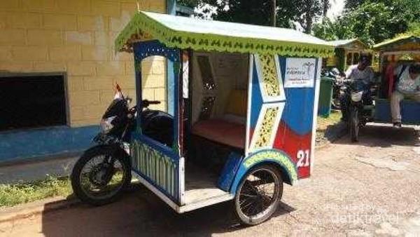 Bentor sarana transportasi di Pulau Penyengat