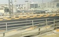 Di luar musim haji, lalu lintas di Mina cukup lengang