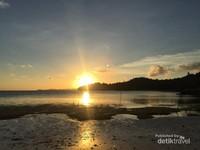 Sunset dilihat dari cottage