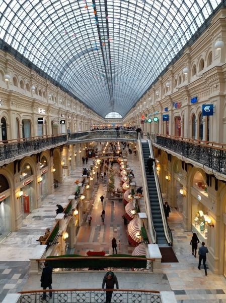 Dibangun tahun 1890-1893 oleh Alexander Pomerantsev yang bertanggungjawab untuk arsitektur dan Vladimir Shukhov, yang bertanggunjawab untuk teknik