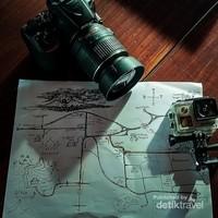 Peta yang diberikan petugas hotel. Dan memang sepertinya sudah dipersiapkan untuk para traveler yang menginap disitu.