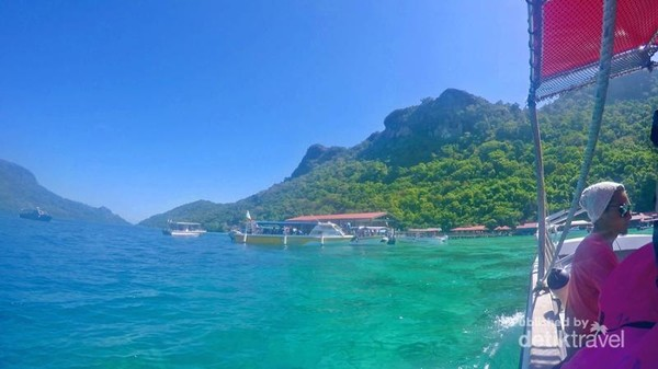 menuju Jetty Pulau Bohey ulang, Tun Sakaran Marine Park.