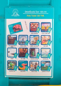 Sejumlah wahana yang bisa kita naiki di Santorini Park beserta tarifnya