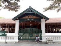 Nampak dari depan Masjid Gede Mataram, di situ terdapat angka 1856  1926
