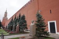 Dinding Pemakaman Kremlin yang dilewati saat keluar ruang sarkofagus Lenin