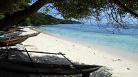 Salah satu sudut pantai di Desa Saprokren, Pulau Waigeo, Raja Ampat, Papua Barat. Salah satu surga di timur Indonesia.