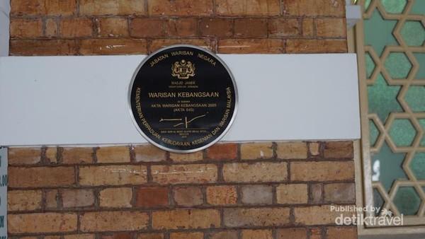 Penanda bangunan sebagai salah satu bangunan Heritage Tangible (berwujud)