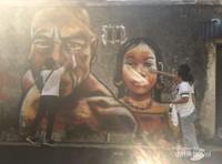 Wisatawan dituntut untuk sekreatif mungkin untuk mengabadikan moment di Penang Street Art ini