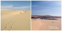 Di tengah White Sand Dunes ada oase
