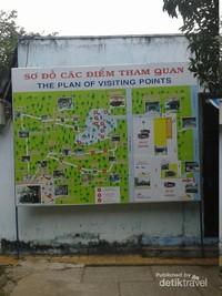 Peta lokasi wisata Cu Chi Tunnels