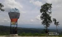 Pengunjung berfoto di Spot foto balon udara di puncak akui