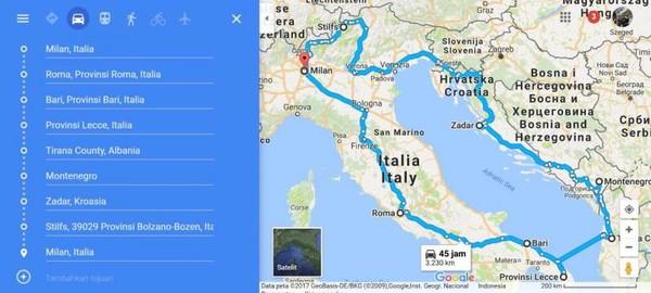 Ini adalah rute kami