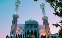 Seoul Central Masjid menjelang yang syahdu menjelang sholat maghrib.