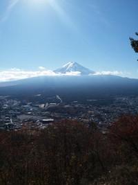 Gunung Fuji dilihat dari dek observasi Mount Tejo