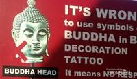 Larangan menggunakan symbol Budha sebagai gambar tato maupun dekorasi